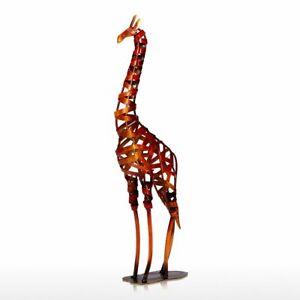 TOOARTS Artwork Metal Sculpture Braided Giraffe Furnishing Articles Artwork