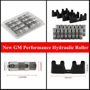 1Set New LS7 GM Performance Hydraulic Roller Lifters & 4 Guides 12499225 HL124