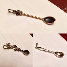 Spoon  Necklace Miniature Charm Pendant Festival Party Snuff Boof Boofing