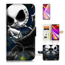 ( For LG G7 )  Wallet Flip Case Cover P21625 Nightmare Before Christmas