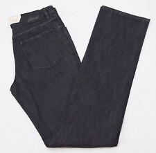 NWT $650 BRIONI 'Stelvio' Charcoal Black Denim Jeans 31 W Straight-leg Cut