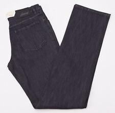 NWT $650 BRIONI 'Stelvio' Charcoal Black Denim Jeans 31 W Straight-leg Cut