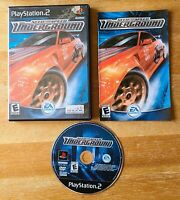 PS2 Playstation 2 Need For Speed Underground COMPLETE with Manual TESTED