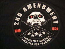 2nd Amendment Protecting America Fighting For Freedom Black T Shirt Size 3XL