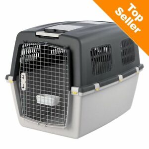 Dog Carrier Ideal For Travelling by Plane Car Train Regulations Compliant Grey