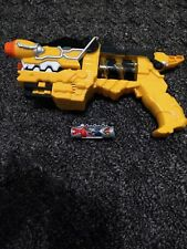 Power Rangers Super Dino Charge Gun Bandai Tested & Works w/ Tyrannosaurus Rex