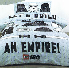 Star Wars Lego Let's Build an Empire- Single/US Twin Bed Quilt Doona Duvet Cover