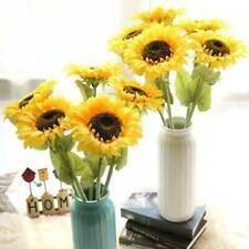 Artificial Silk Sunflower Fake Flower Bouquet Wedding Home Floral Decor