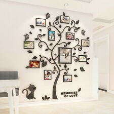 Family Cat Tree Wall Decals 3D DIY Photo Frame Wall Sticker Mural Bedroom Decor