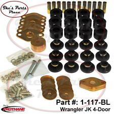 Prothane 1-117-BL Body Mount Bushing Kit-12pc/Hardware 7-14 Jeep Wrangler JK 4dr