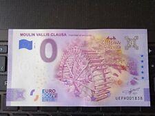 BILLET EURO SOUVENIR 2021-2 MOULIN VALLIS CLAUSA FONTAINE DE VAUCLUSE
