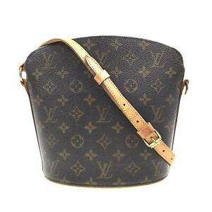 100% Authentic Louis Vuitton Monogram Druot Shoulder Bag M51290 [Used] {09-0327}