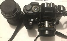 Vintage Chinon CE-5 Camera with Strap 50mm LENS And A 40mm TOKINA LENS