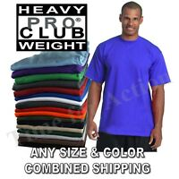 Pro Club Heavy Weight Short Sleeve Plain Basic Tall or Reg T-shirts Tee S-7XL