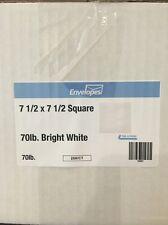 7.5 x 7.5 White Paper Envelopes Envelope 250 Self Adhesive Invitation Wedding