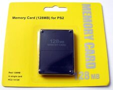 Carte memoire 128 Mo pour Playstation 2 Sony PS2 128 MB memory card, NEW
