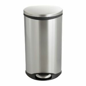 """Safco Ellipse Hands Free Step-on Receptacle - 7.50 Gal Capacity - 26.5"""" Height X"""