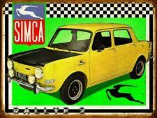 Plaque metal vintage Simca 1000 Rallye 2