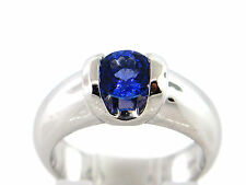 0.70 CT 100% Natural Round Tanzanite Lady's Ring 14K White Gold