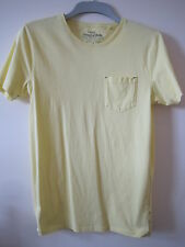 MANS/YOUTHS NEXT PRE WORN COTTON CREW NECK T SHIRT SIZE S - YELLOW..