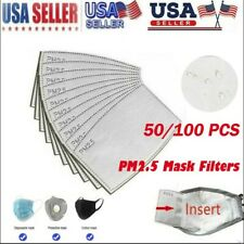 50/100pcs Pm2.5 Replaceable Protection Filter Activated Carbon Filter US
