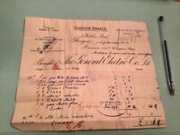 The General Electric  Co Ltd Glasgow Branch 1904  Receipt Ref 50301