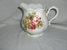 Vintage Antique Porcelain Milk Syrup Pitcher Hand Painted Germany Signed Nice