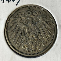 1899-J Germany 1 Mark Silver Coin XF+/UNC Condition