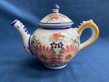 Vintage HB Quimper France Pottery Teapot