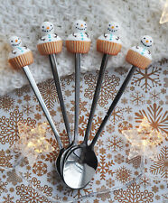 Tasty spoon Snowman Christmas handmade tea Party coffe personalized gift! ONE pi