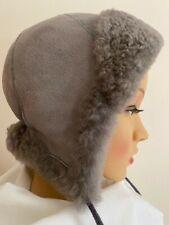 Unisex Boys/Girls Shearling Real Sheepskin Winter Hat