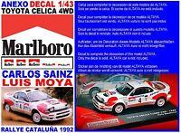 ANEXO DECAL 1/43 TOYOTA CELICA 4WD CARLOS SAINZ RALLY CATALUÑA 1992 (02)