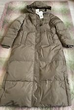 Zara Long Down Jacket with Water and Wind Protection. Size XS