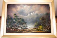 Eric Minchin oil 'Outback Landscape, 'The Storm' Australia