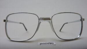 Vintagebrille oldschool Brillenfassung silber groß Sattelsteg Gr. L 56[]20