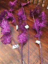 Floral craft Purple Feathered Effect Accessories X 4