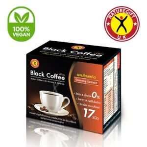Nature Gift Black Coffee Plus Ginseng Extract Weight Loss Slimming 10 Sachets