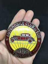 Ancien badge emaillée 1930  AUTOMOBILE CLUB TOULOUSE  Calandre Radiateur CITROEN