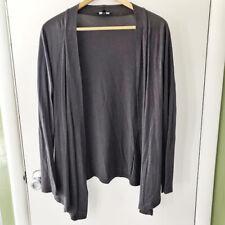 Express Womens Cardigan Size M Grey Open Front Drape Sweater Long Sleeve (A)