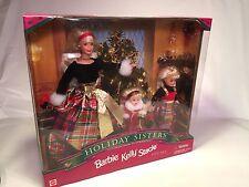 HOLIDAY SISTERS Barbie, Kelly, Stacie #19809 1998  NIB, NRFB