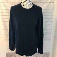 Women's Theory crewneck 100% cashmere navy blue sweater size large