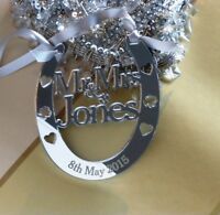 Personalised Mr & Mrs Wedding Horseshoe Keepsake, FREE GIFT BAG