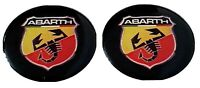2 x FIAT ABARTH Badge Emblem Sticker Logo 3d domed Weatherproof Man Cave Car