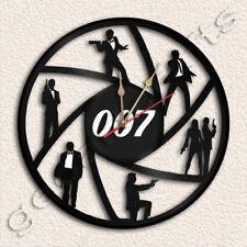 James Bond 007 Wall Clock Vinyl Record Clock