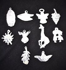 """Medium Milagros Charms Silver Color Lot of 10 what you see is what you get """"J-4"""""""
