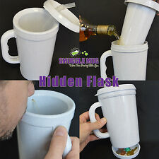 Smuggling Mug 12oz Hidden Flask. The mug with a built in hidden flask.