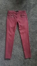 Next Leather Look Red Burgundy Jeans 12 L