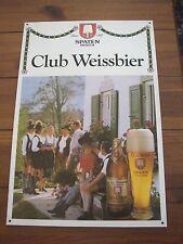 Club Weissbier, Spaten, Munich, vintage plastic Beer Sign