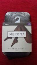 BNWT - MERONA - WOMENS BLACK FISHNET TIGHTS - SIZE - 1X/2X