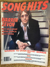 Song Hits Magazine 10/78 Warren Zevon Patti Smith Dolly Parton